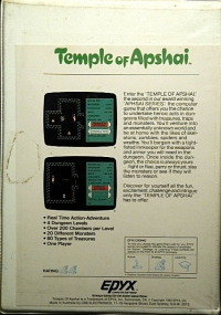 Temple of Apshai Box Art