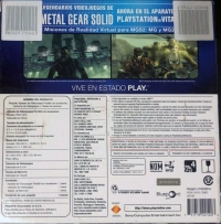 Sony PlayStation Vita PCH-1010 ZA01 - Metal Gear Solid HD Collection Box Art