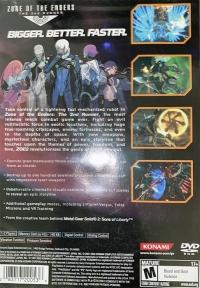 Zone of the Enders: The 2nd Runner (red Konami logo) Box Art
