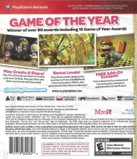 LittleBIGPlanet - Game of the Year Edition - Greatest Hits Box Art