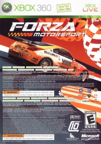 Marvel Ultimate Alliance / Forza 2 Motorsport Box Art