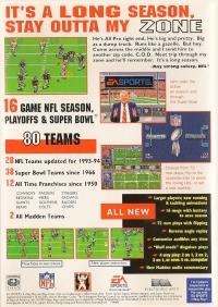 Madden NFL '94 Box Art