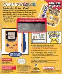 Nintendo Game Boy Color - Pokémon Yellow [NA] Box Art