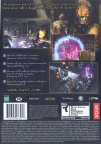 Forgotten Realms: Neverwinter Nights 2: Gold Box Art