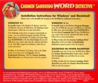 Carmen Sandiego Word Detective Box Art