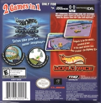 2 Games In 1 Double Pack: Hot Wheels: Velocity X / Hot Wheels: World Race Box Art