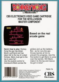 Donkey Kong (black cartridge) Box Art