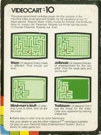 Videocart 10: Maze Box Art
