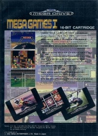 Mega Games I (carts on back) Box Art