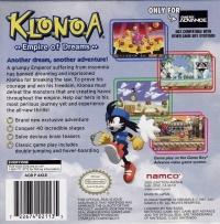 Klonoa: Empire of Dreams Box Art