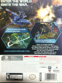 James Cameron's Avatar: The Game - With Figure (White Box) Box Art