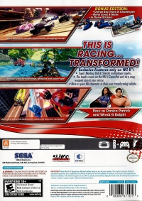 Sonic & All-Stars Racing Transformed - Bonus Edition Box Art