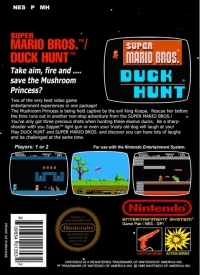 Super Mario Bros. / Duck Hunt Box Art