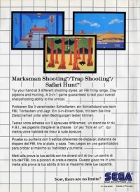 Marksman Shooting / Trap Shooting / Safari Hunt (No Limits) Box Art