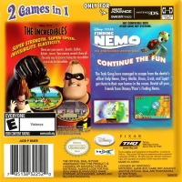 2 Games in 1 Double Pack: Disney/Pixar The Incredibles / Finding Nemo: The Continuing Adventures Box Art