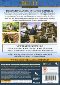 Bully: Scholarship Edition Box Art