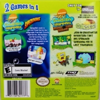 2 Games In 1 Double Pack: SpongeBob SquarePants: SuperSponge / SpongeBob SquarePants: Revenge of the Flying Dutchman Box Art
