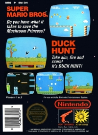 Super Mario Bros. / Duck Hunt (With Nintendo Seal of ...