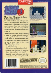 Mega Man 3 (Mega Man Refund) Box Art