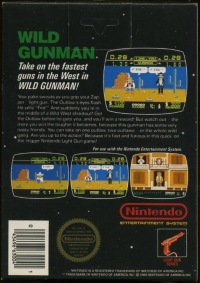 Wild Gunman (3 screw cartridge) Box Art