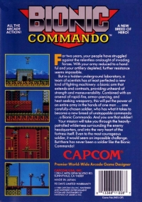 Bionic Commando (round seal) Box Art