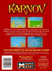 Karnov Box Art