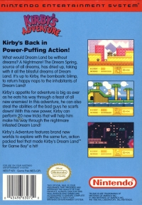 Kirby's Adventure Box Art