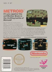 Metroid (3 screw cartridge) Box Art