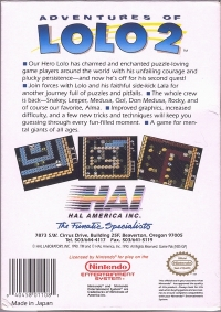 Adventures of Lolo 2 Box Art