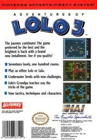 Adventures of Lolo 3 Box Art
