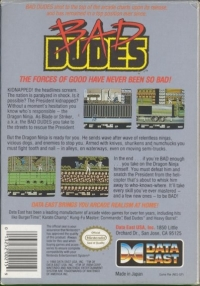 Bad Dudes Box Art