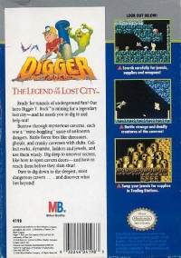 Digger T. Rock: The Legend of The Lost City Box Art