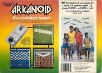 Arkanoid (3 screw cartridge) Box Art