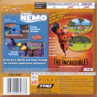 2 Games In 1: Finding Nemo + The Incredibles Box Art