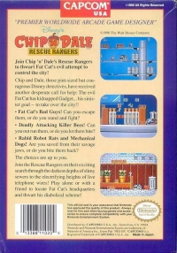 Disney's Chip 'N Dale: Rescue Rangers Box Art