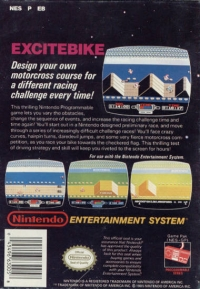 Excitebike (3 screw cartridge) Box Art