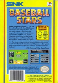 Baseball Stars Box Art