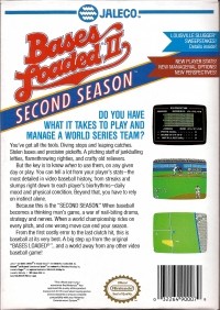 Bases Loaded II: Second Season Box Art