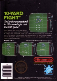 10-Yard Fight (5 screw cartridge) Box Art
