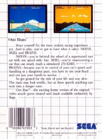 Out Run Box Art