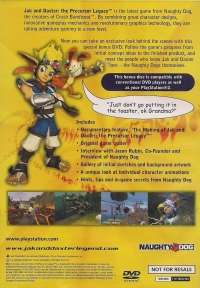 Jak and Daxter: The Precursor Legacy DVD Box Art