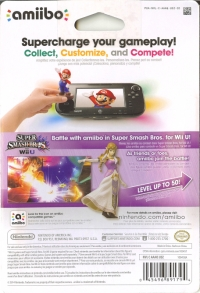 Zelda - Super Smash Bros. (gray Nintendo logo) Box Art