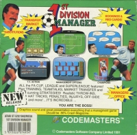 1st Division Manager Box Art