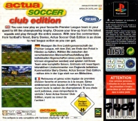 Actua Soccer - Club Edition Box Art