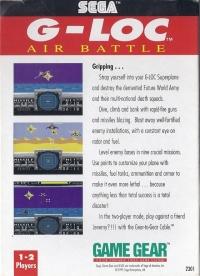 G-LOC: Air Battle Box Art