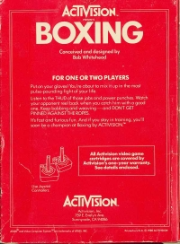 Boxing (Picture Label) Box Art