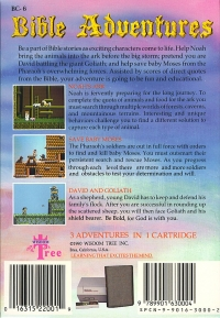 Bible Adventures (blue cartridge) Box Art