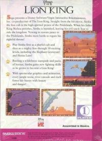 Lion King, The (Majesco) Box Art