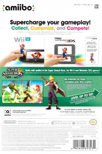 Cloud - Super Smash Bros. (gray Nintendo logo) Box Art