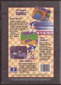 Sonic the Hedgehog (Not for Resale) Box Art